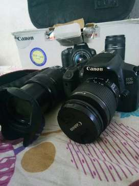 Canon 700d.. 1year old good condition 2lens