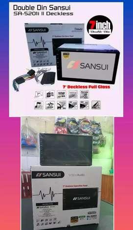 Tv Mobil Sansui 7 Inci Mirror Link (Mp4.Usb.Mmc.Aux.Radio.Bluettoth)