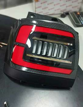 Zen led tail lights with carbon finish