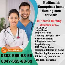 Male Female Nursing staff required for home patient care services