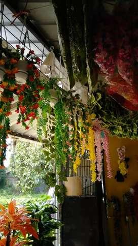 Bunga Juntai foam / bunga plastik / daun plastik - Violet