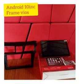 Head unit android Vios 9inc+frame