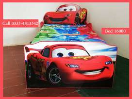 Brand New McQueen 95 Single Car Bed for Boys, Children Beds