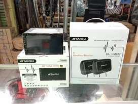 Paket Sansui. DobelDin Sansui SA5202i + Headrest Monitor 8 inch Hitam