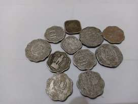 Old Antique 20, 10, 5 paise Coin
