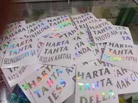 Stiker HARTA TAHTA Hologram Custom