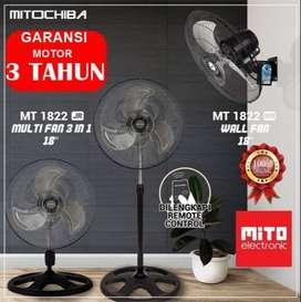 "Mitochiba Kipas Angin Besi 18"" Remote Control 3in1 Tornado MT 1822JR"