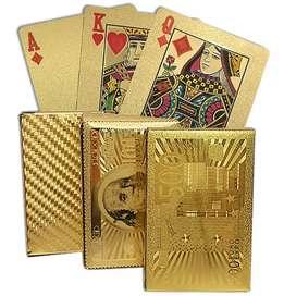 Kartu Remi Poker motif Gold Elegan