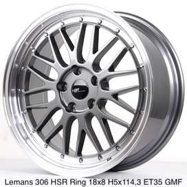 velg plaju lemans hsr ring18 lebar 8/9 hole5x120 et35 GREY/ML