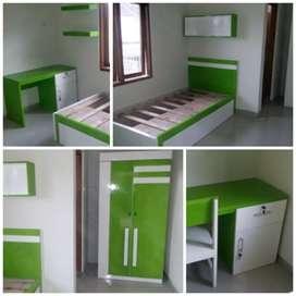Room set kamar set ful set tempat tidur lemari meja kos hotel rumah