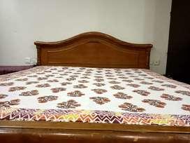 Sheesham wood double bed with storage box