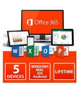 Microsoft Office 365 1 year License 5 users For Windows and Mac 2019