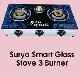 Surya Glass Top 3 Burner