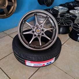 paket Rays Racing 15x7 H8 100 114.3 +35 untuk mobil AGYA XENIA AVANZA
