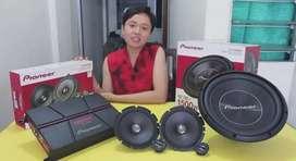 Paket audio Pioneer power subwoofer dan Split brand Pioneer