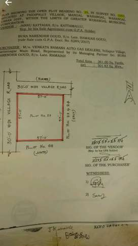 WARANGAL paidipally  361yds for sale