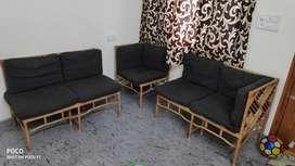 Bamboo 5 seater sofa set