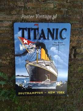Poster Dinding Cafe Retro Titanic Solid Kayu 40x60