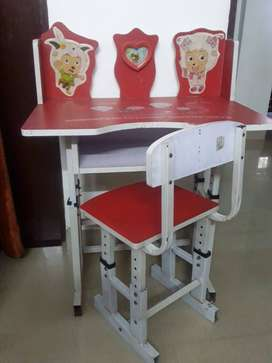 Kids Study Table & Chair in Red Colour