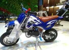mini trail biru 50cc baru dan murah