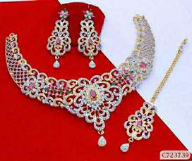 American Diamond Jewellery Set
