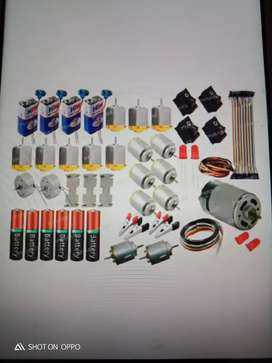 Motors set +batteries+switched+wire +etc.