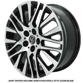VELG AMW Toyota Vellfire R18x7.5 PCD 5x114,3 HRV BRV MAZDA ALPHARD