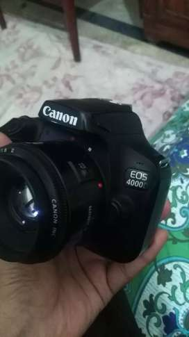 Cannon 4000D DSLR camera