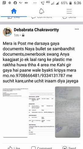 LOST DOCUMENTS OF NEW BULLET