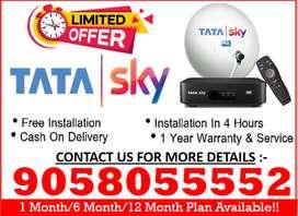 No.1 DTH 6 Month - Tata Sky HD - Tatasky, Airtel, Dishtv, D2H, Sun Tv!