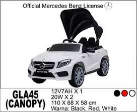 mobil mainan aki free Ongkir mercy GLA 45 Convertible Lisensi UK 751