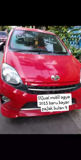 Mobil agya G manual 2015 baru bayar pajak bulan 9 murah BU