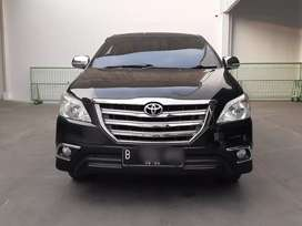 [LOW KM] Toyota Innova G MT Bensin 2014 hitam Manual, pajak panjang!!