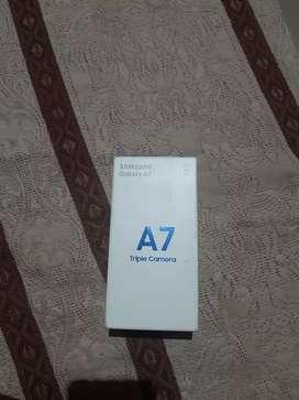 Samsung a7 (2018)4gb ram 64 GB memory bill, box charger  fresh