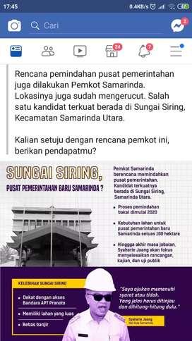 Tanah SHM 5 menit dr Bandara APT Pranoto Samarinda