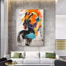 lukisan kanvas cat minyak ukuran 100x150 harga 1.217.000
