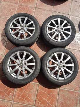 Manaray Sport - Alloy Wheels Rims with Tyres (14 inch)