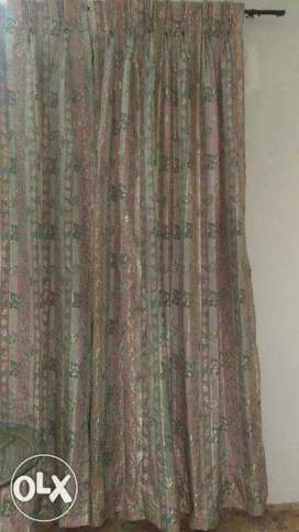 Pink and silver curtains available.