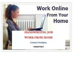 Handwriting work home based part time job