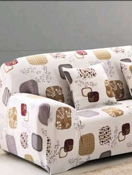 Two seater sofa cover,stretchable cloth