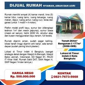 Rumah Murah di Timur Indah Kota Bengkulu. Siapa cepat, dia dapat.