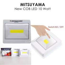 Lampu Tempel Magnet Emergency / Switch Light Mitsuyama COB LED 10watt