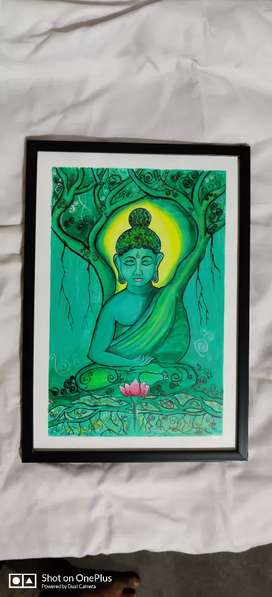 Budha acrylic painting  A3 size