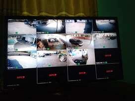 Paket 4CH CCTV dengan hasil HD Merk HIKVISION