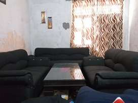 7 seater sofa with mirror table urgent sale