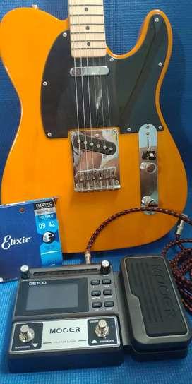 {LAST DEAL}Paket Guitar&Effect-Squier Telecaster Affinity+Mooer Ge100