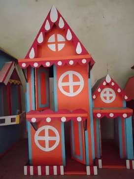 Rumah Barbie kayu
