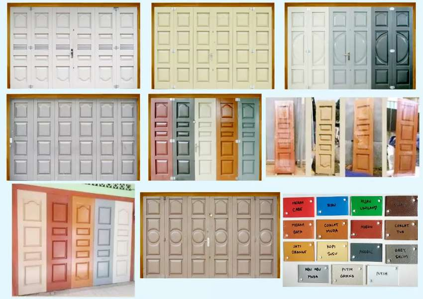 Pintu Besi Press Ruko Lipat/Tikung,Folding Gate,Pintu Steel 0