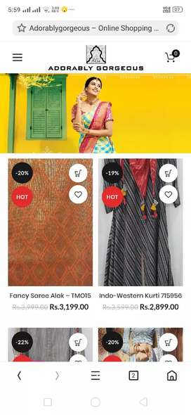 Get your own E-Commerce Website with Android app for just RS 9999.