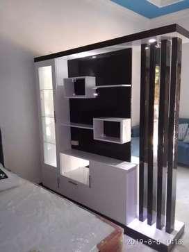 Partisi dua muka penyekat ruang minimalis modern Berinterior design